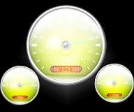 Indicateur de vitesse et d'autres cadrans illustration de vecteur