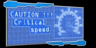 Indicateur de vitesse futuriste illustration libre de droits