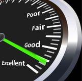 Indicateur de vitesse pour l'évaluation photos libres de droits