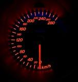 Indicateur de vitesse rougeoyant photo libre de droits