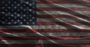 Indicateur des Etats-Unis Le plan rapproché des Etats-Unis d'Amérique a ondulé le drapeau de ondulation Photo stock