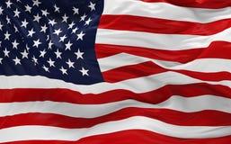 Indicateur des Etats-Unis ondulant dans le vent Image libre de droits