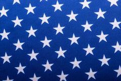 Indicateur des Etats-Unis Plan rapproché des étoiles sur un drapeau américain, Etats-Unis Photo stock