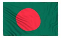 Indicateur du Bangladesh Photographie stock libre de droits