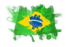 Indicateur du Brésil à l'arrière-plan blanc illustration de vecteur