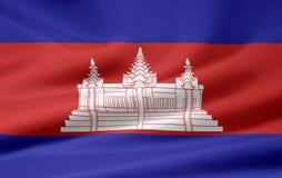 Indicateur du Cambodge illustration stock