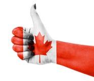Indicateur du Canada Photo libre de droits