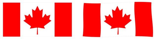 Indicateur du Canada Version simple et ondulante légèrement illustration de vecteur