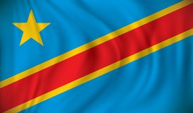 Indicateur du Democratic Republic Of The Congo illustration stock