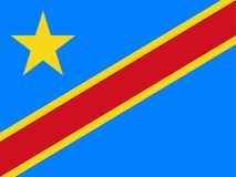 Indicateur du Democratic Republic Of The Congo illustration libre de droits