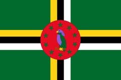 Indicateur du Dominica illustration de vecteur