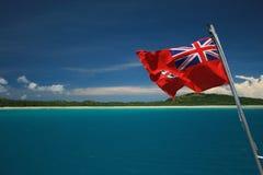 Indicateur du Fiji au-dessus de lagune bleue Photo libre de droits
