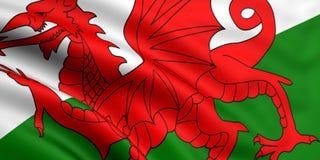 Indicateur du Pays de Galles Photos stock