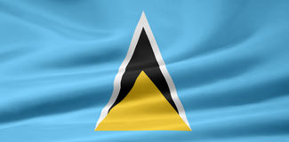 Indicateur du St Lucia Photographie stock libre de droits
