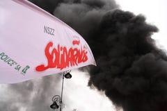 Indicateur et fumée Photographie stock libre de droits