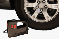 Indicateur et pneu de pression Images stock