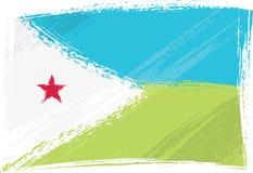Indicateur grunge de Djibouti Photos stock