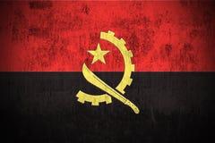Indicateur grunge de l'Angola Photographie stock