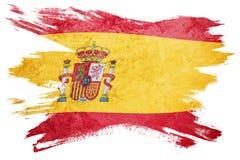 Indicateur grunge de l'Espagne Drapeau de l'Espagne avec la texture grunge Rappe de balai illustration stock