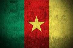 Indicateur grunge du Cameroun Image stock