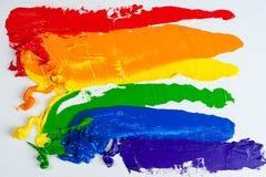 Indicateur homosexuel de fierté d'arc-en-ciel Photo libre de droits
