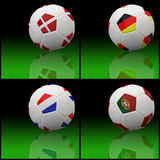 Indicateur international sur le football 3d Images libres de droits