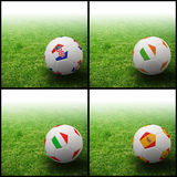 Indicateur international sur le football 3d Image stock
