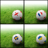 Indicateur international sur le football 3d Photo libre de droits