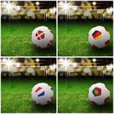 Indicateur international sur le football 3d Images libres de droits