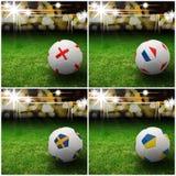Indicateur international sur le football 3d Photographie stock libre de droits