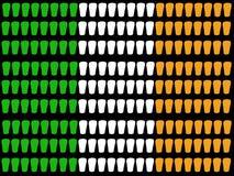 Indicateur irlandais en verre de pinte Photos stock