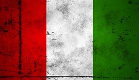 indicateur Italie Vieux fond grunge patriotique de cru illustration stock