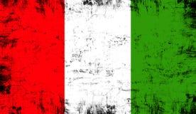 indicateur Italie Vieux fond grunge patriotique de texture de cru illustration libre de droits