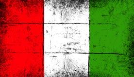 indicateur Italie Vieux fond grunge patriotique de texture de cru illustration stock
