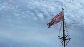 Indicateur Jack naval russe avec la croix du ` s de St Andrew clips vidéos