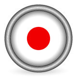 indicateur Japon de bouton Photographie stock libre de droits