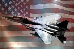 Indicateur métallique de F15 et des USA illustration stock