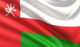 indicateur Oman Texture fortement détaillée ondulée de tissu illustration 3D illustration stock