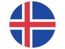 Indicateur rond de l'Islande illustration stock