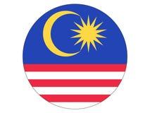 Indicateur rond de la Malaisie illustration libre de droits