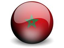 Indicateur rond du Maroc Illustration Stock