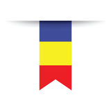 Indicateur roumain illustration stock