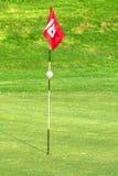 Indicateur sur le terrain de golf Photographie stock libre de droits