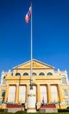 Indicateur thaïlandais au Ministère de la Défense à Bangkok Photographie stock libre de droits