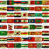 Indicateurs asiatiques de nations Illustration Libre de Droits