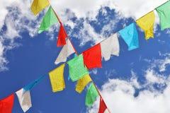 Indicateurs bouddhistes de prière Photos stock