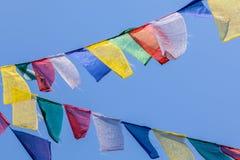 Indicateurs bouddhistes de prière Images libres de droits