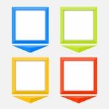 Indicateurs colorés avec l'espace vide Image libre de droits
