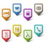 Indicateurs colorés d'ensemble pour des services Photos stock