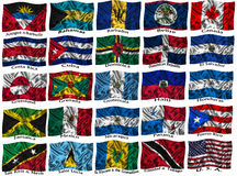 Indicateurs colorés de ondulation de l'Amérique du Nord Image stock